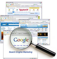 picture showing the search engine marketing