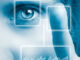 Image displaying forms of biometric identification such as iris scan & fingerprint.