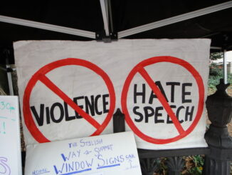 """No violence no hate speech"""