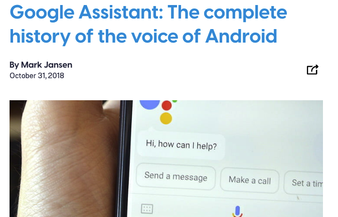 History of Google Assistant Article