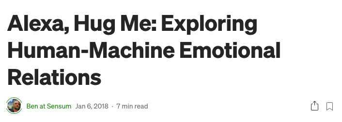 Human - Machine Emotional Relations Article