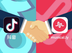 Picture showing the merging of Douyin and Musical.ly