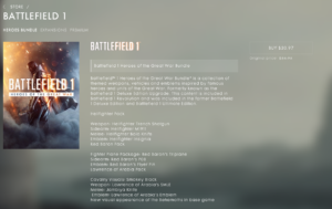 Battlefield V in-game purchase