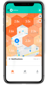 A Pricing Heat Map that shows DiDi's dynamic pricing system